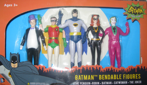 The boxed set of five Batman Classic TV Bendies