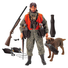 The Duck Hunter is loaded with accessories and an actual duck call, which this reporter mistook for a 1/6 bazooka at first glance