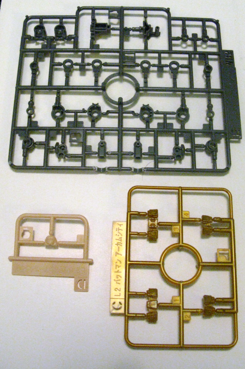 By molding pieces in different colors, Bandai makes painting unnecessary. That also means that if you only need one piece in a certain color, it gets its own sprue