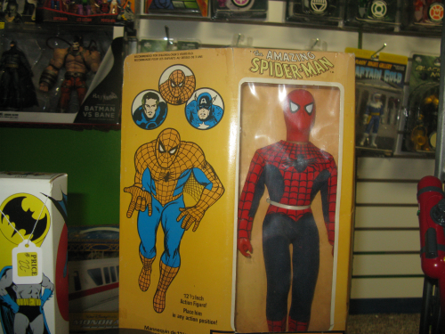 "A Mego 12"" Spider-man, still in the box"