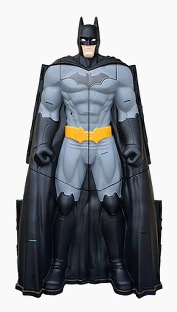 """The Batcave Playset doubles as 30"""" tall figure."""